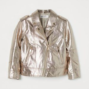 H & M Metallic Biker Jacket
